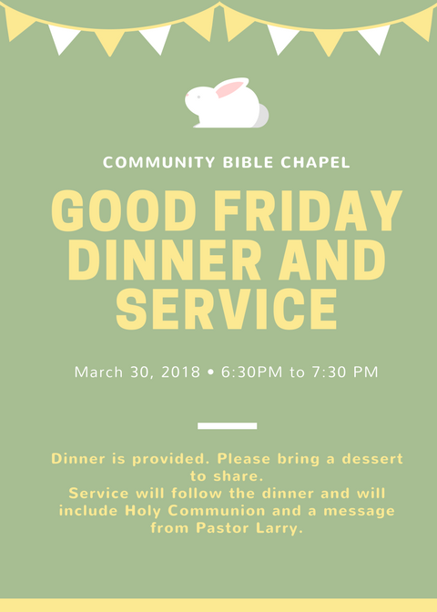 Green with Rabbit Event Church Flyer